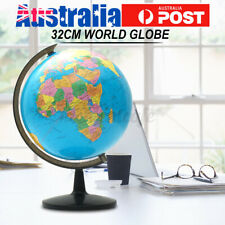 32cm Rotating Earth World Globe Map Free Standing Table Educational Home  # ~