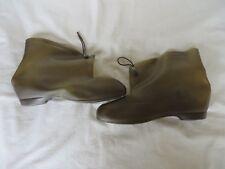 Vintage Drizzle Boots Ladies Over Shoes Rain Boots Brown Size 7 R  #789