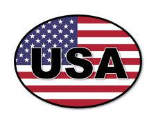 2 x USA OVAL Flag, car, van decal sticker