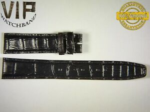 NEW OEM Authentic IWC strap 20 mm alligator IWE08036 BLACK