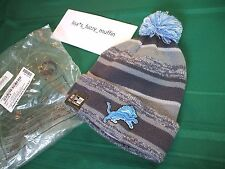 Detroit Lions New Era knit pom hat beanie NEW w/tags RARE graphite 2014-2015