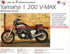 YAMAHA 1200 V-MAX ( VMAX ) 1985 Fiche Moto 000253