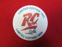 1993 Limited Edition RC Cola authentic milk cap pog Royal Crown by Stanpac