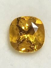 Natural 3.03 Carat Yellow Sapphire Square Cushion Cut 8mm Genuine Loose Gemstone