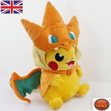 Pokemon Pikachu With Mega Charizard Hat Plush Soft Toy Stuffed Animal Doll 9''