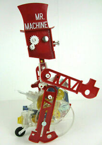 New Mr Machine Wind Up Walking Toy Robot Instruction Metal Key/Bell/Wrench Box