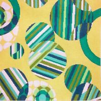 JG Green Circles Geometric HP Handpainted Needlepoint Picture or Pillow Canvas