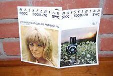 CATALOGUE HASSELBLAD 500C 500EL/70 SWC OBJECTIFS DE 1969