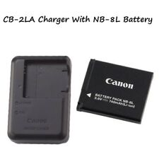 CB-2LA Charger + NB-8L Battery For Canon PowerShot A2200, A3000, A3100, A3300,