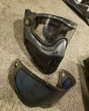 Black Empire E-Flex Paintball Mask with Clear Lens And Tinted Lens In Dust Bag