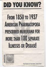 "Older Flier on Marijuana Use from 1850-1937 "" Legalize Hemp """