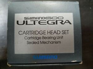 "Shimano 600 Ultegra Cartridge Head Set, Silver, HP-6500, 1"" ENGLISH  Headset"