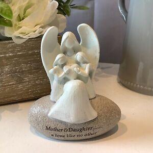 Mum, Mother & Daughter stone Sentimental Pebble Ornament Figurine Gift love