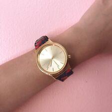 Komono Gold Face Floral Wristband Watch