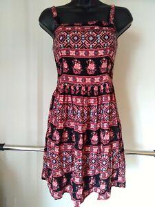 Abercrombie & Fitch Boho Sleeveless Square Floral Mini Dress Sz S