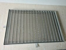 Edelstahl Gitterrost mit Rahmen 400 x 600 mm Gleitschutz, Fußabstreifer