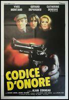 CODICE D'ONORE Manifesto 2F Poster Originale Cinema MONTAND DENEUVE DEPARDIEU