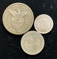 1918s US-Philippines 10, 20, 50 centavos Silver Coin (3pcs)- lot #6