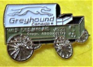 1988 WILF DESJARLAIS CHUCK WAGON GREYHOUND Sponsor CALGARY STAMPEDE Pin Mint