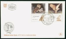 MayfairStamps Israel 1987 Biblical birds Owls Tabs First Day Cover wwr15279