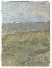 Landschaft mit Häusern. - Ölstudie