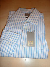 NEW $220+ IKE BEHAR Mens Dress SHIRT 15 34 35 white Made Italy Cotton BC GOLD5