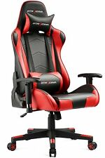 GT Racing Executive Gaming Chair Leather High Back Recliner Office chair Red US