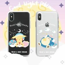 Pikachu Phone Case Cute Snorlax iPhone Case Pokemon iPhone Case Transparent