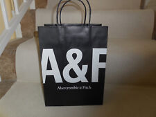 "A&F Abercrombie & Fitch Boutique Paper Gift Bag Black & White Logo 9""X12""X5.5"""