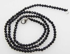 """black spinel faceted round 3mm chocker  necklace 16"""" wholesale nature"""