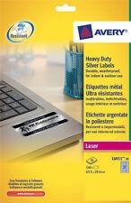 Avery L6011-20 Laser Heavy Duty Silver Label  27 Per Sheet 20 Sheet Pack