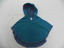 Roxy Kids Wishbone Fleece Poncho Size 5  Hoodie Sweaters Turquoise
