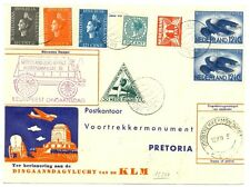 NED 1938 FFC CV TO PRETOTIA + RETURN -ONE CV  F/VF