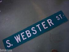 """LARGE ORIGINAL N GRANGER ST STREET SIGN 54/"""" X 9/"""" WHITE LETTERING ON GREEN"""