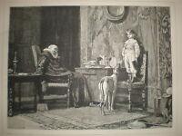 The Naughty Boy C T Garland print 1881