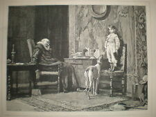 The Naughty Boy C T Garland print 1881