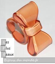 Bague Caramel Clair NOEUD FLOT PAPILLON en Plastique NEUF