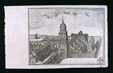 1720 Harrewijn Print Benedictine Saint Vedast or Vaast Abbey Arras Calais France