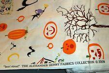 "Alexander Henry Halloween Fabric ""boo! street"" vintage 2009  7150-A Black/White"