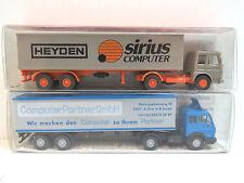 2 LKW,Heyden,ComputerPartner,Mercedes,MAN,SoMo,WiKING,1:87,für H0,OVP,HB