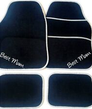 Personalised BEST MUM Car Mats Mums Christmas gift OR YOUR OWN TEXT? Embroidered