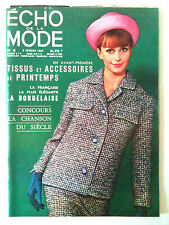 L'echo de la mode n° 6 année 1964; Mode; la bordelaise / Cuisine/ Ouvrage