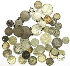 Small Lot Of Worldwide Mainly Scrap Silver Coins Weight - 125 Grams