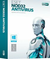 ESET NOD32 Antivirus 1 PC 1 Anno Global Key Digital Download Fatturabile ESD