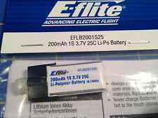 E-flight 200mAh 1S 3.7V 25C Li-Po Battery, EFLB2001S25 from Mid-America