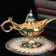 Legend Aladdin Magic Genie Light Lamp Wishing Oil Collectable Brass Classic New