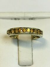 Attractive 9 Carat Yellow Gold CITRINE ETERNITY Ring