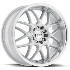 Katana KR32 17x7.5 4x100 4x114.3 40et Gloss Silver Machined Lip Wheels Rims