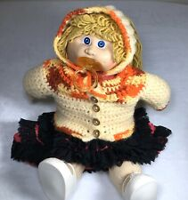 Cabbage Patch Doll Blue Eyes Blond Hair with Pacifier Hand Made Clothes