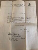 1949 Knights of Pyhias Letter Eureka California Lincoln Lodge No 34